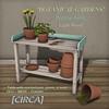 "@ The Wash ~ [CIRCA] - ""Botanical Gardens"" - Potting Table"