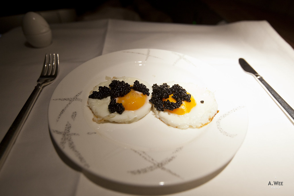 Caviar with sunny side up