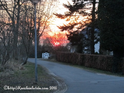 Bauernhof Café auf dem Rosenhof Hohn Sonnenuntergang