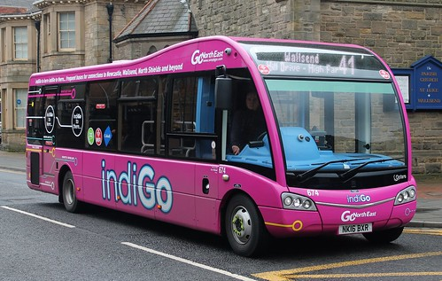Go North East: 0674 NK16BXR Optare Solo SR | by emdjt42