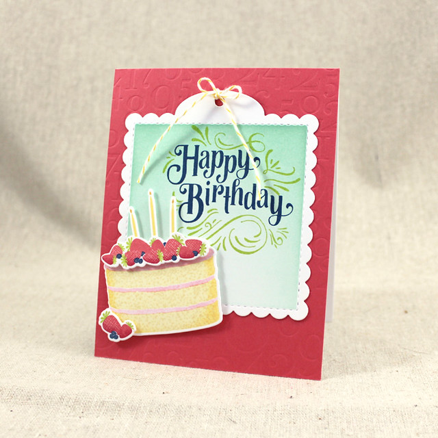 Strawberry Birthday Cake Card