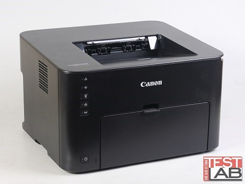Máy in Canon imageCLASS LBP151dw có thiết kế vuông vắn với tông màu đen nhám.