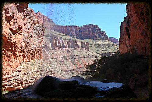 grand canyon hike ribbon falls 3