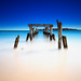 West Beach Decayed Pier to Atlantic Ocean under Clear Blue Winter Sky from Beverly Farms Massachusetts by Greg DuBois - Sponsored by LEE Filters