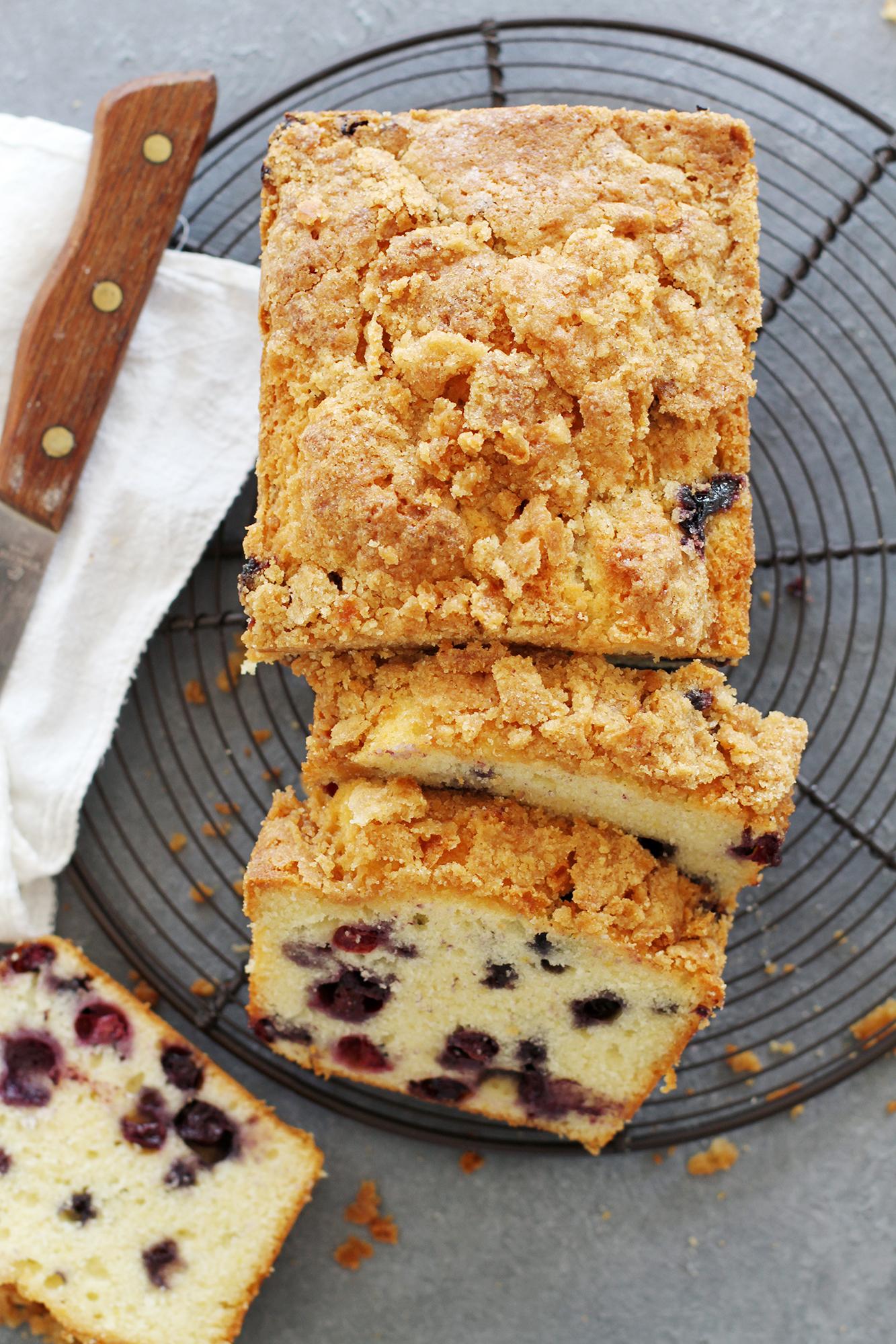 Blueberry Lemon Muffin Bread   girlversusdough.com @girlversusdough
