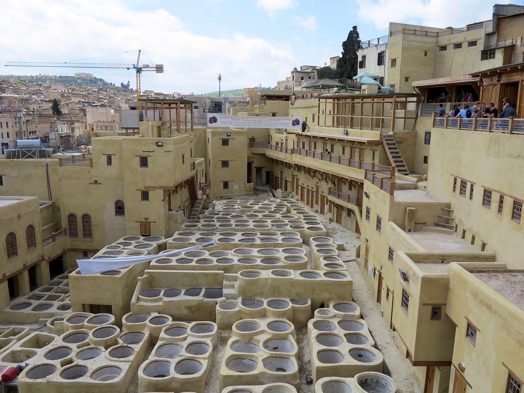 Curtidores de Chouwara en Fez