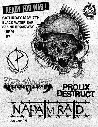 5/7/16 NapalmRaid/Vastation/ViolentParty/ProlixDestruct