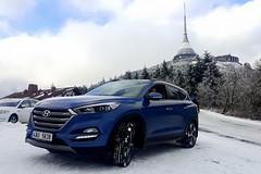 Hyundai Tucson pohledem ženy lyžařky