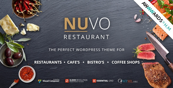 NUVO v6.0.2 - Cafe & Restaurant WordPress Theme