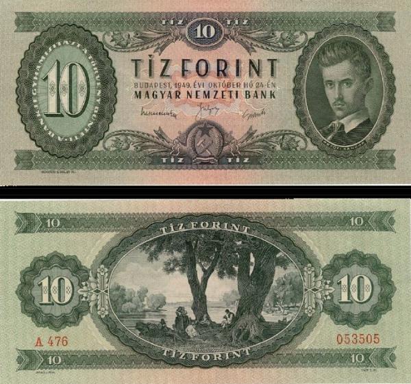 10 Forintov Maďarsko 1949