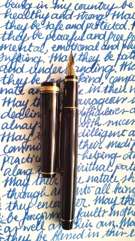 Meditative writing with Namiki Falcon MS