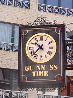 Guinness Clock Sign (2) of Celtic Ireland Pub in Antwerp Belgium