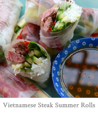 Vietnamese Steak Salad Summer Rolls