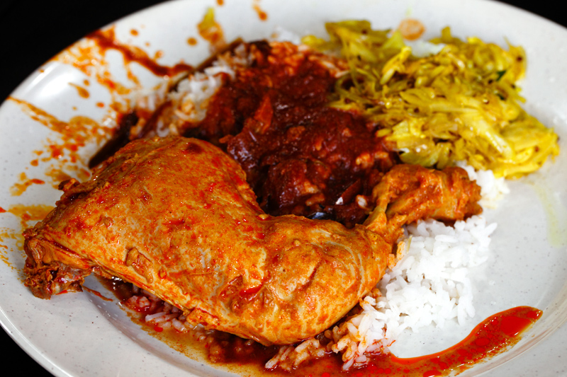 Line Clear Nasi Kandar with Chickenl