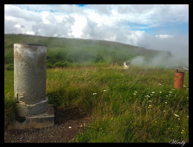 Chimeneas de fuente termal Deildartunguhver