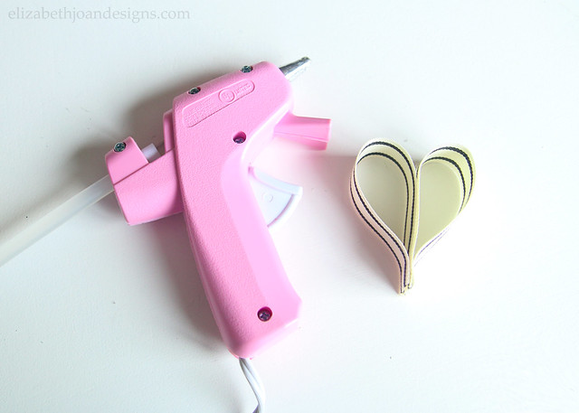 Hot Glue Ribbon Heart