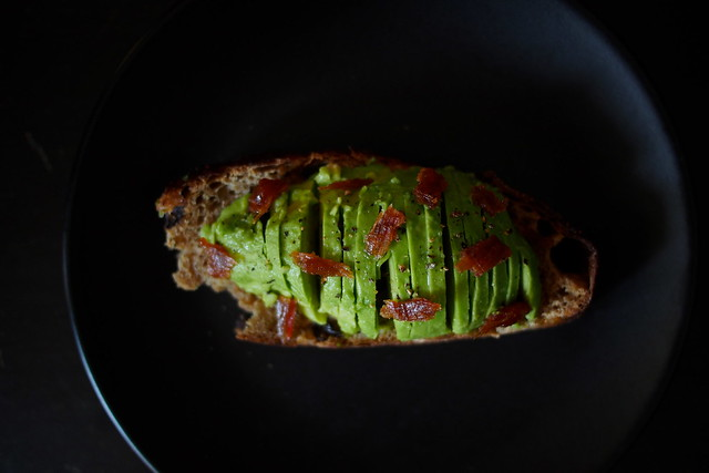 avocado toast, with Woodlands Sourdough. bread subscription!