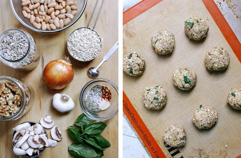 Spaghetti Squash & Italian Bean Balls