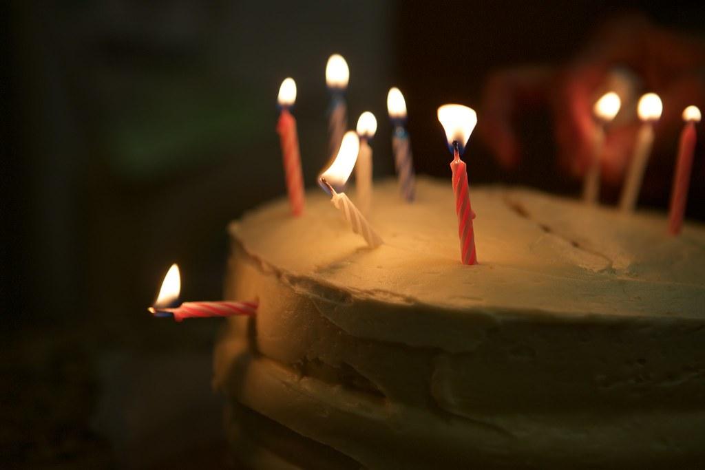Candels on cake