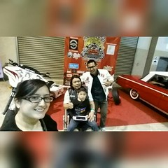 Went to 1st #BorneoKustomShow in Bridex before going back to jpmc with Dad and baby Ammar and my baby wifey.. the organizer waited for us..