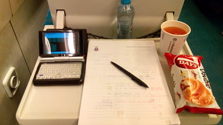 Desktop in train