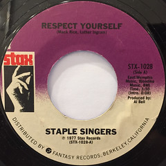 STAPLE SINGERS:RESPECT YOURSELF(LABEL SIDE-A)