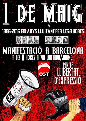 1r de Maig 2016 Barcelona