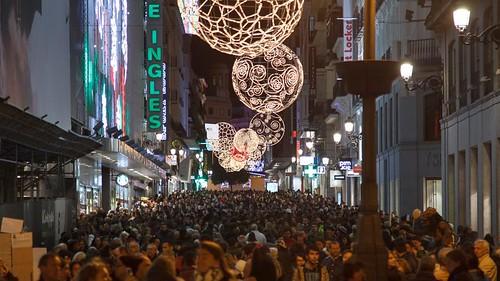 Luzes de Natal em Natal na Espanha