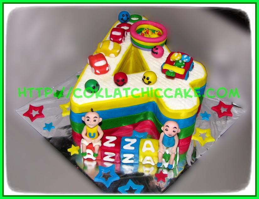 Cake Angka 4 Ipin Upin