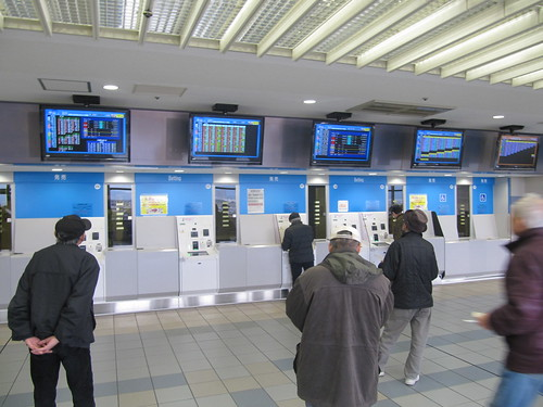 京都競馬場4階の馬券売り場