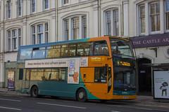 Cardiff Bus Scania double decker CN57 BKA
