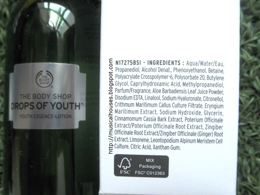 The Body Shop Drops of Youth Essence Lotion Ingredients