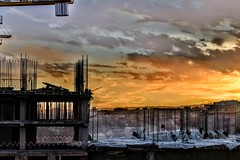Sunrise over Bishkek - Construction