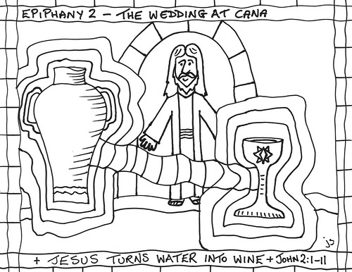 Jesus turns water into wine – Stushie Art