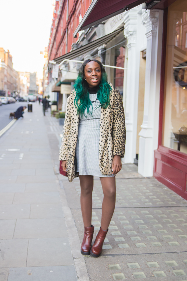 how to style a leopard print coat