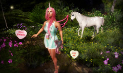 Luas - Unicorn Gacha@ Enchantment; [Cloud] - Pearl Unicorn Horn @ Enchantment