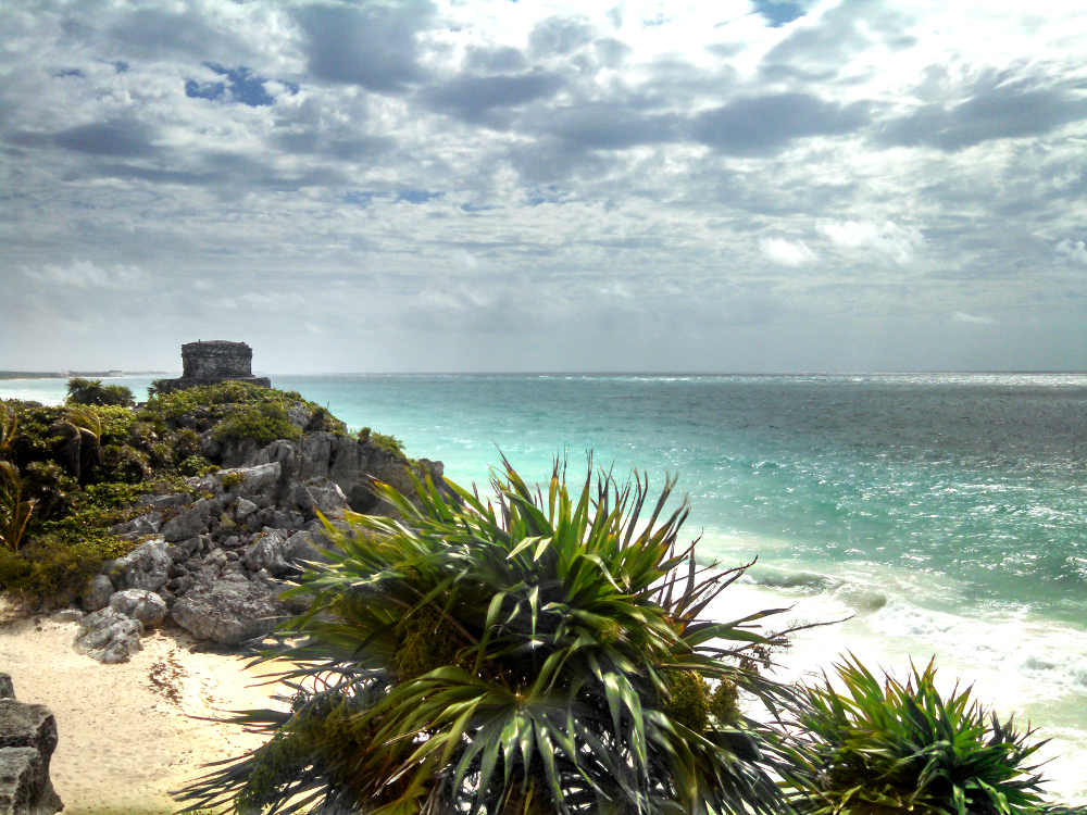 Ruins by the Blue Waters of Tulum