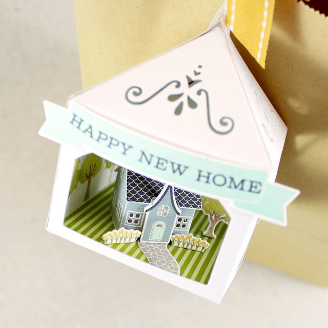 Petite Places Happy New Home 3D Tag Top View