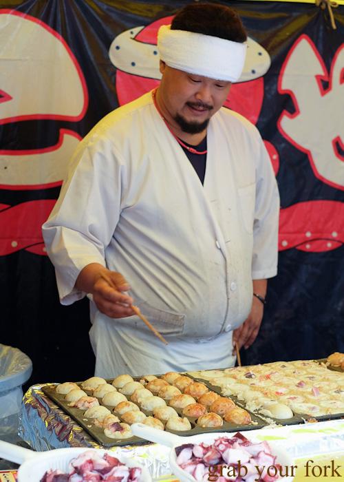 Takoyaki octopus balls in Asakusa, Tokyo