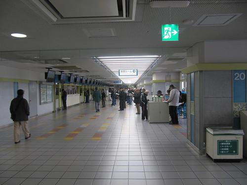 京都競馬場のスタンド2階