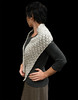 Oatmeal fancy lace crochet long womens scarf beautiful winter fashion accessory
