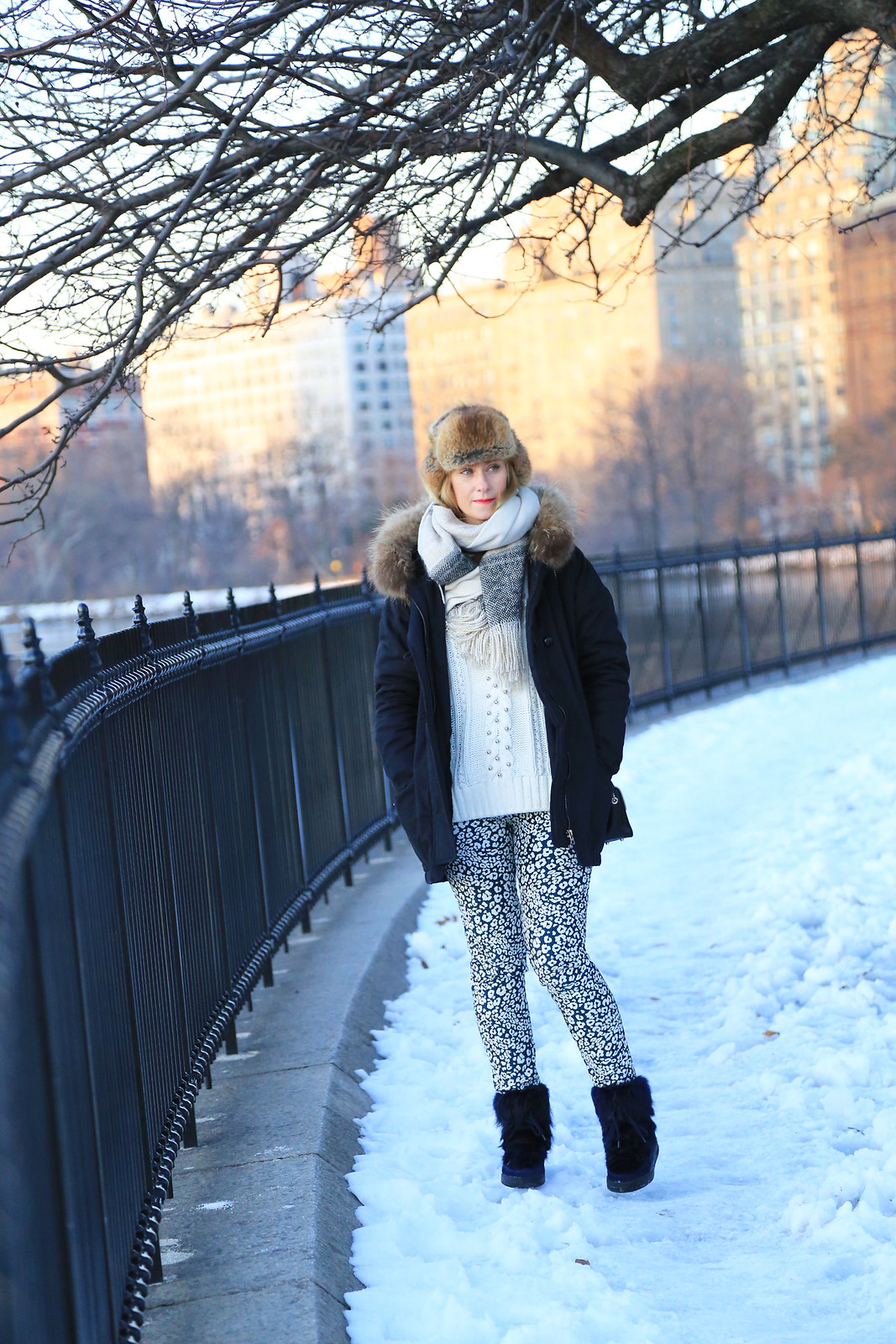 winter ootd new york
