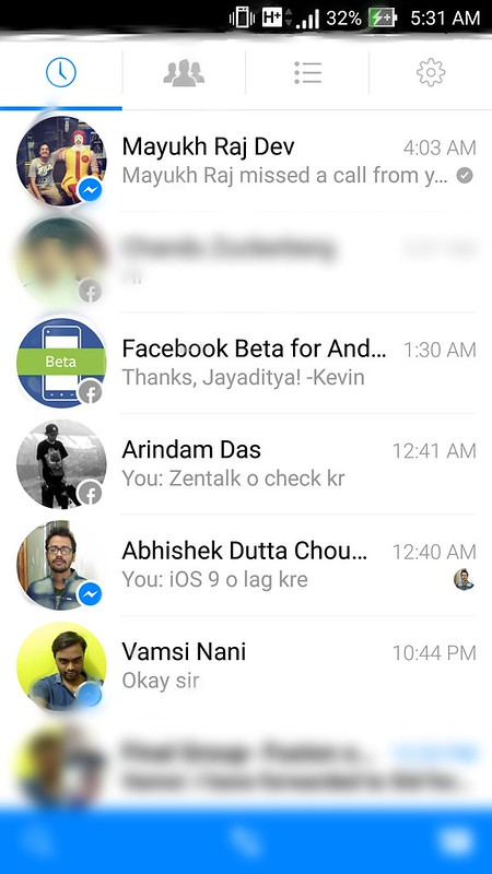 Facebook testing Material Design and multiple account support for Messenger. http://igw.link/20dYZk0