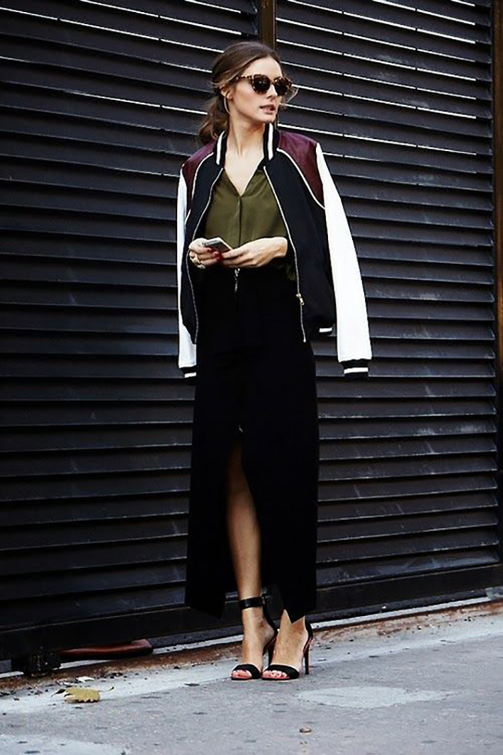 Bomber jacket street style outfit fashion8