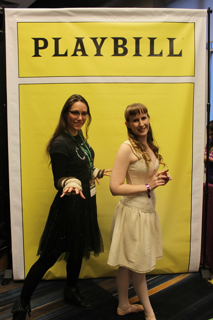 Playbill photo op