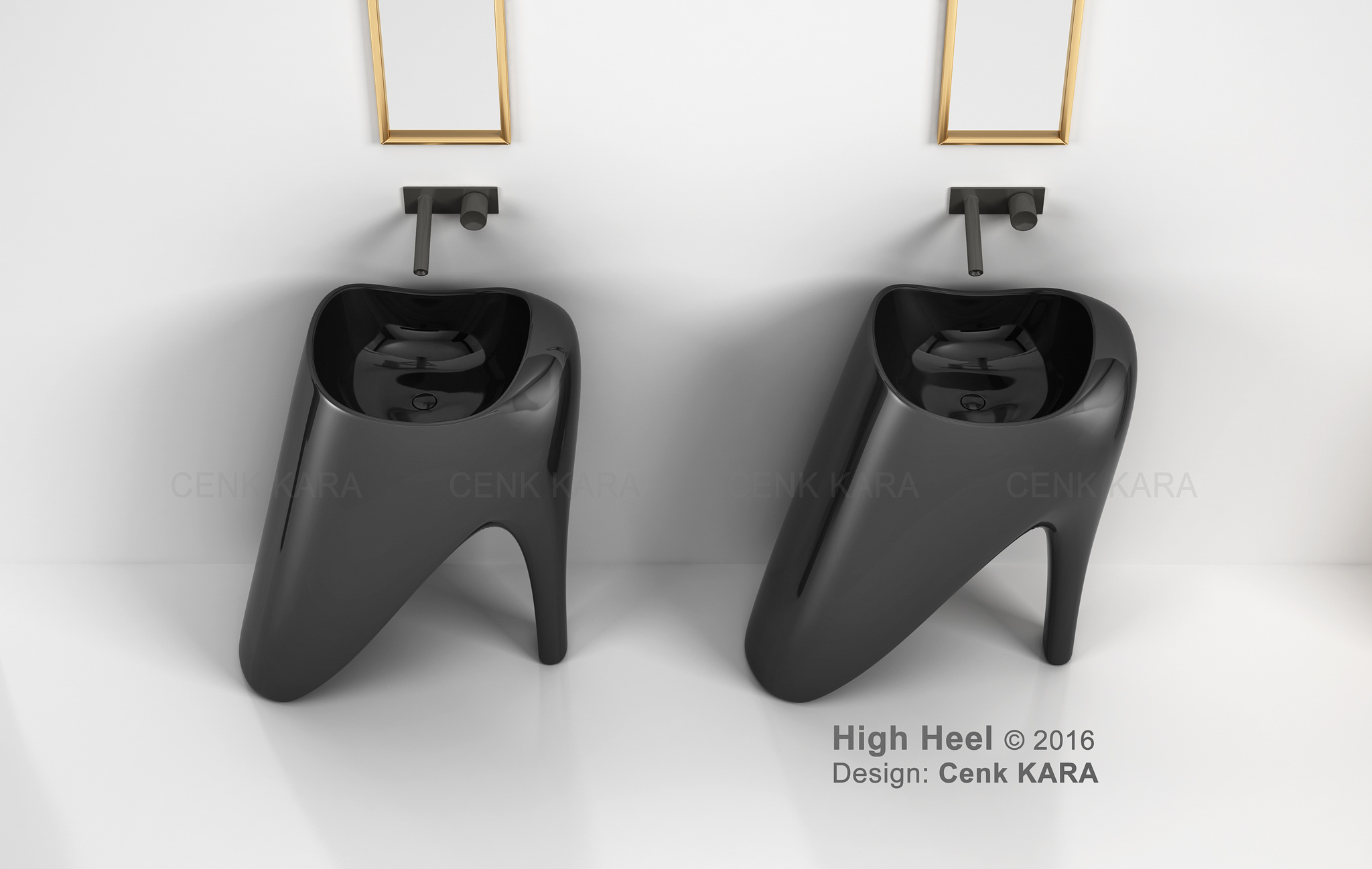 High Heel - freestanding washbasin concept