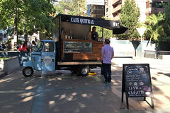 Santiago - Coffee cart Cafe Quitral