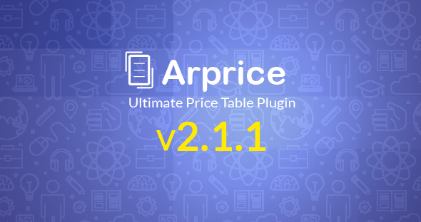 Codecanyon ARPrice v2.1.1 - Ultimate Compare Pricing table plugin