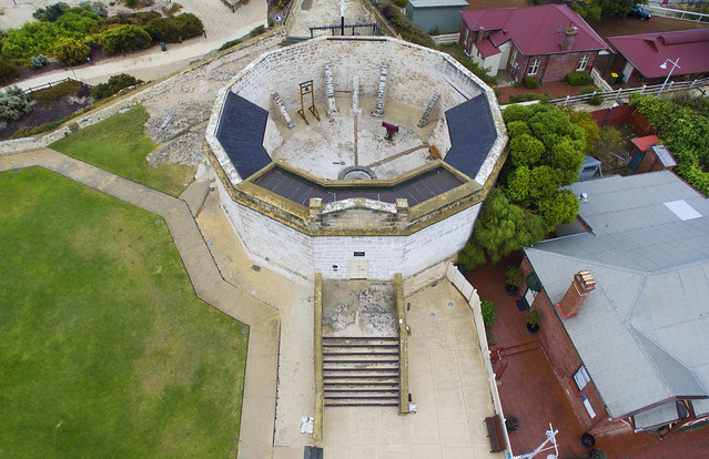 The old convict Round house gaol, Fremantle, Western Australia