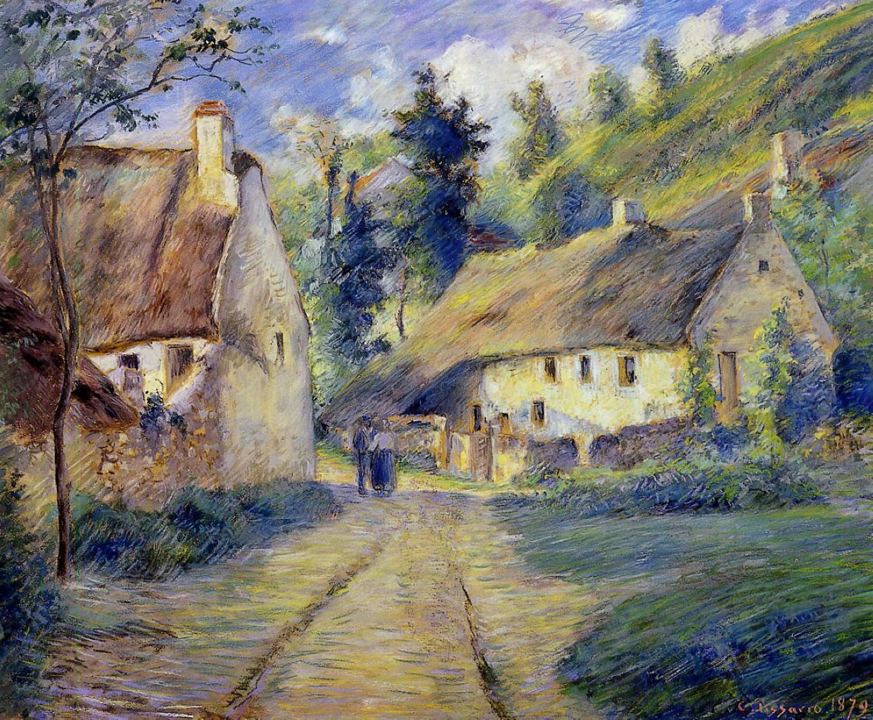 Cottages at Auvers, near Pontoise by Camille Pissarro, 1879